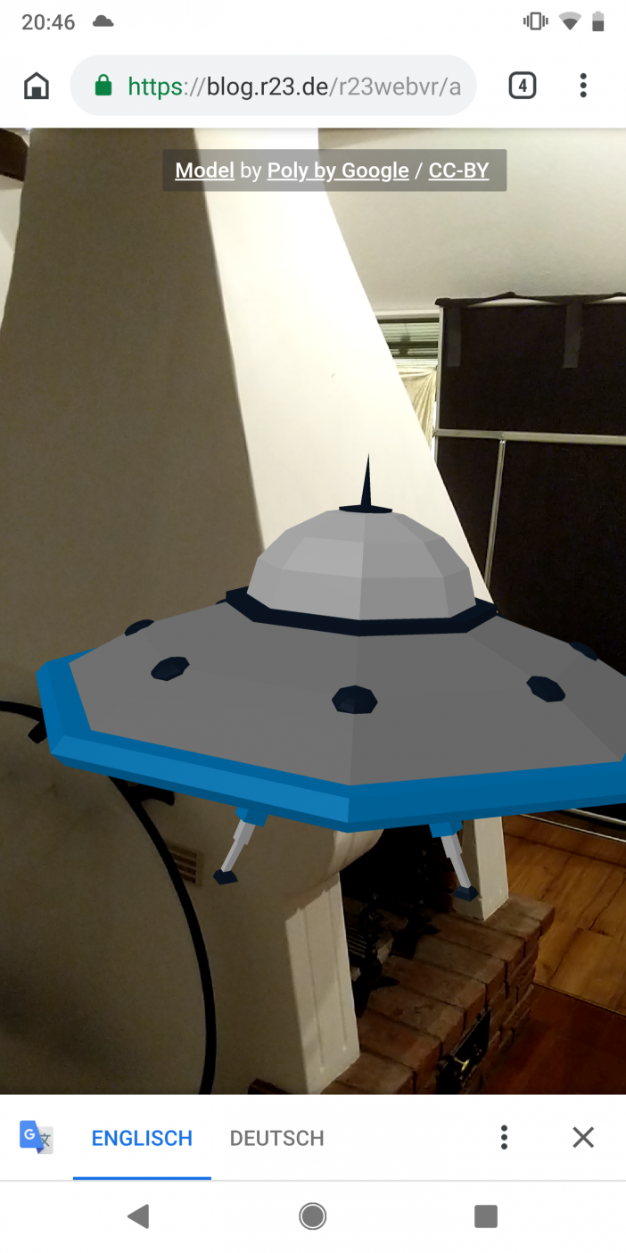 Experiment mit Augmented Reality Features im Web