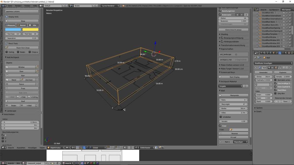 Architekturdesign & Animation in Blender - 3D-Grafik 1