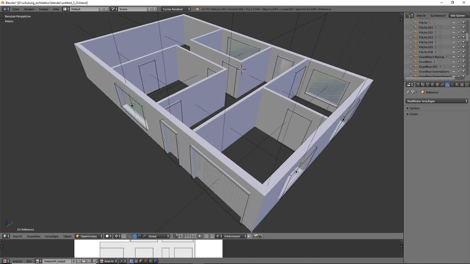 Architektur 3D-Modellierung 2