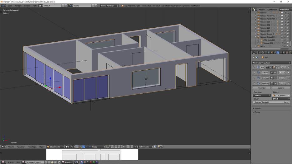 Architektur 3D-Modellierung 3