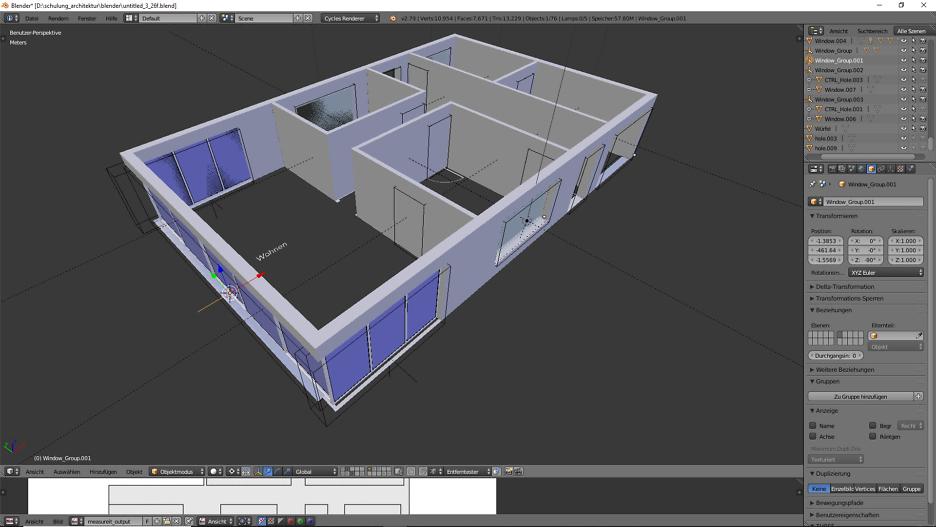Architektur 3D-Modellierung 4