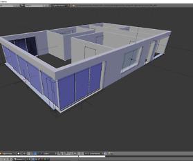 Architektur 3D-Modellierung