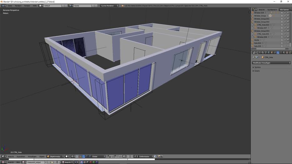 Architektur 3D-Modellierung 5