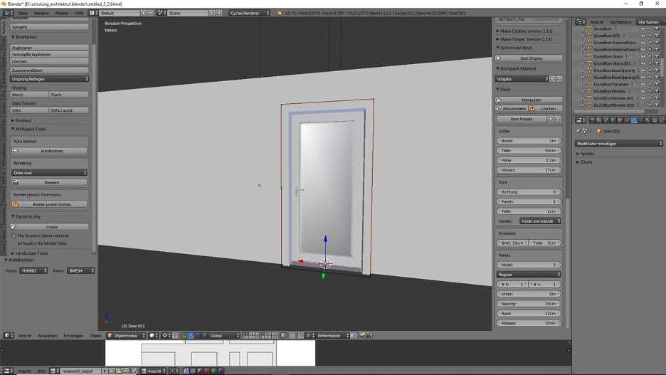 Architekturdesign & Animation in Blender - 3D-Grafik 3