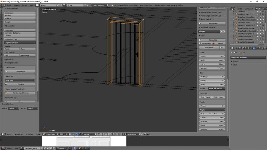 Architekturdesign & Animation in Blender - 3D-Grafik 4