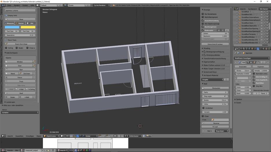 Architekturdesign & Animation in Blender - 3D-Grafik 6