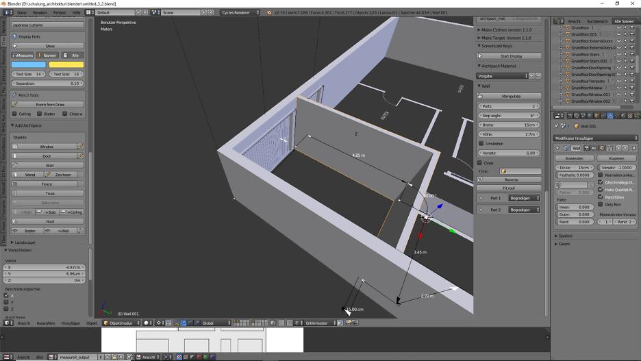 Architekturdesign & Animation in Blender - 3D-Grafik 7