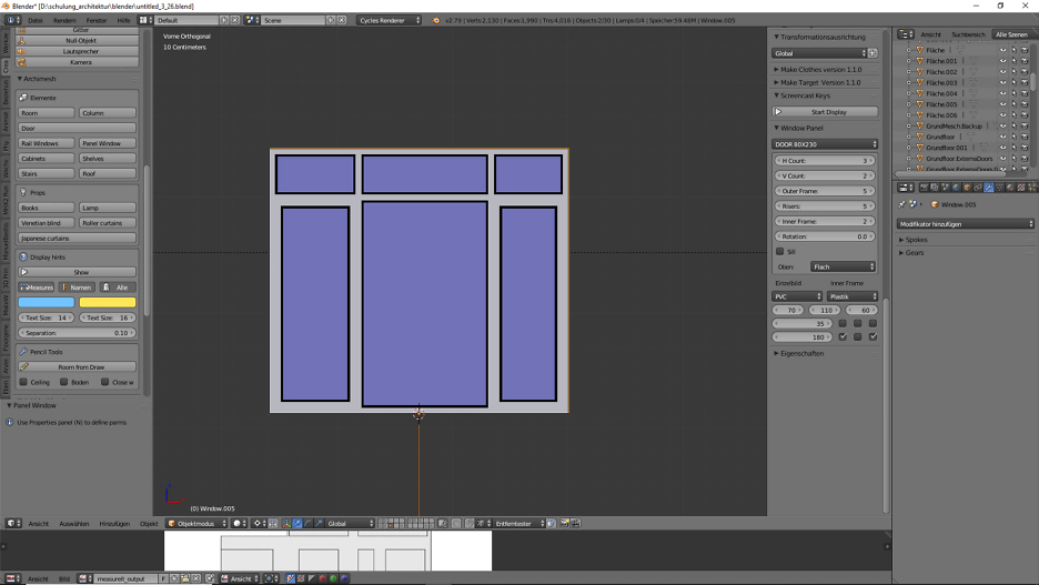 Architektur 3D-Modellierung 6