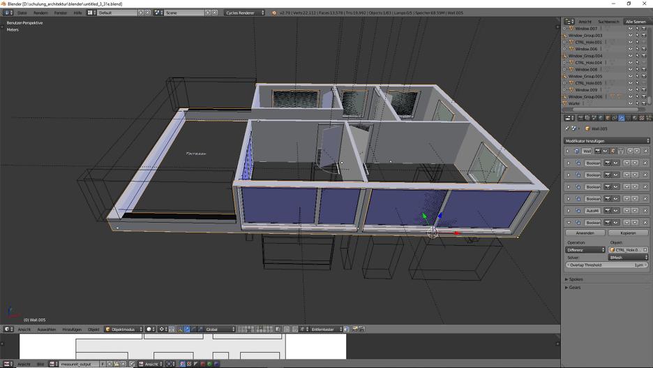 3D-Modellierung: Architektur 5