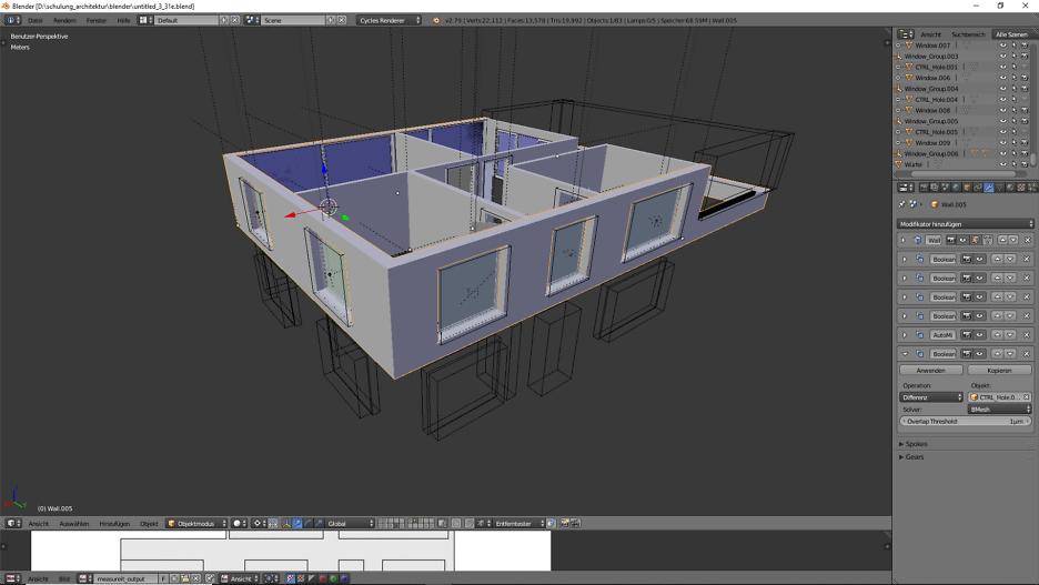 3D-Modellierung: Architektur 4