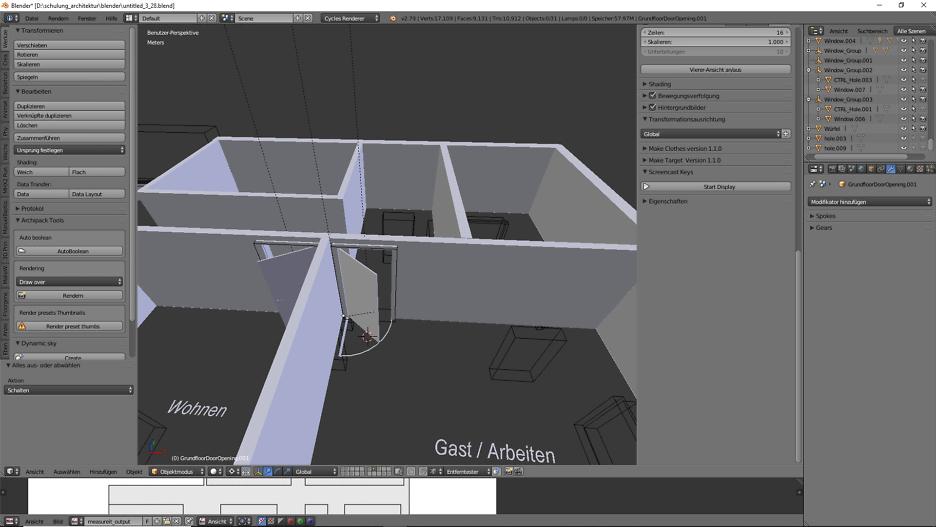 3D-Modellierung: Architektur 3