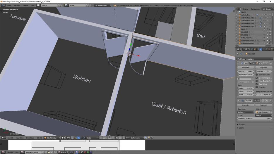 3D-Modellierung: Architektur 2