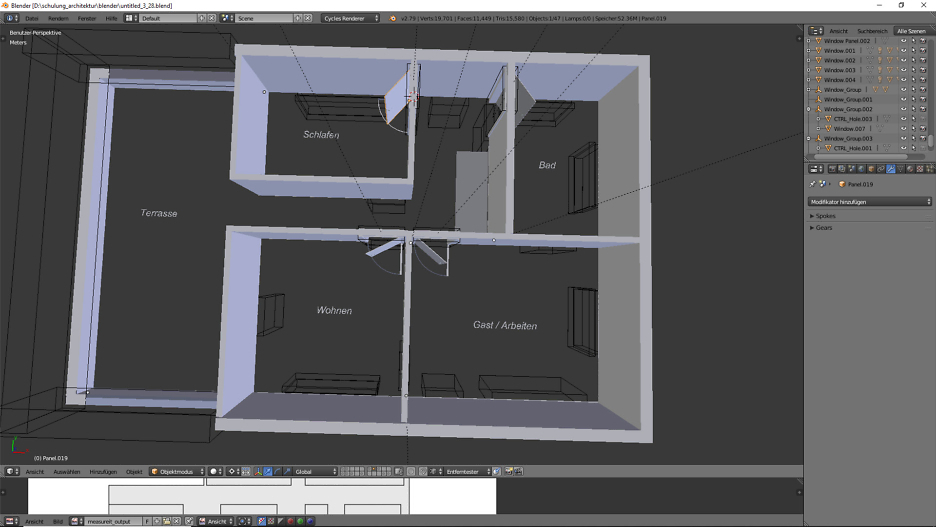 Architekturvisualisierung, Blender