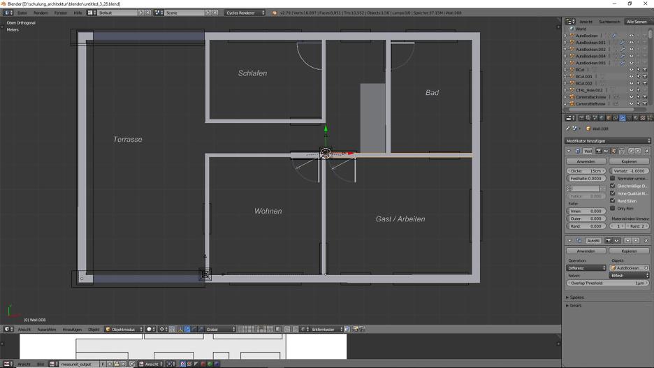 3D-Modellierung: Architektur 1