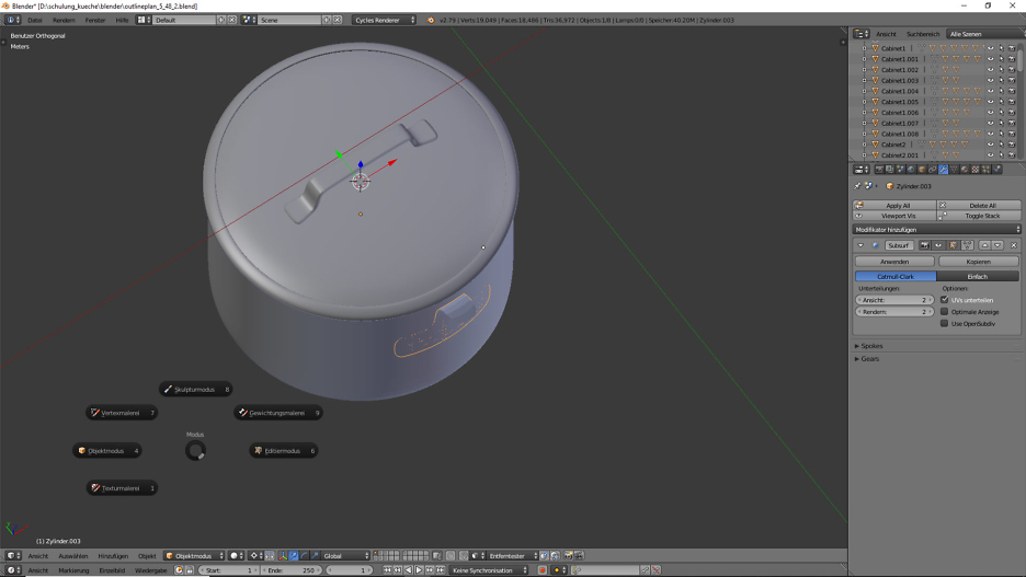 3D-Visualisierung: Küche Part 6 11