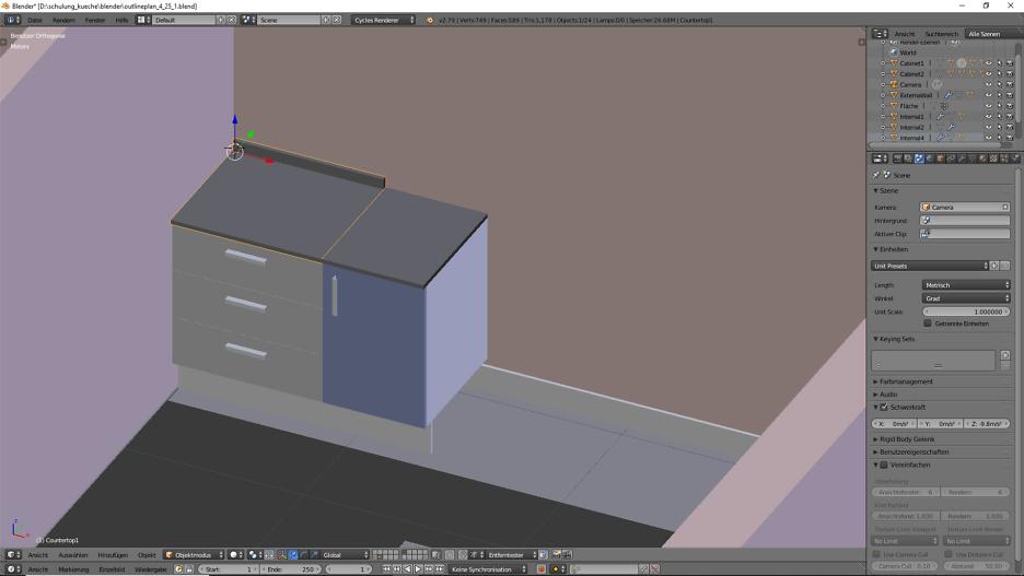 3D-Visualisierung: Küche