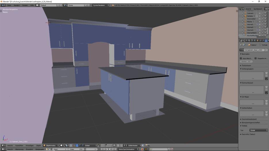 3D-Visualisierung: Küche Part 3 4