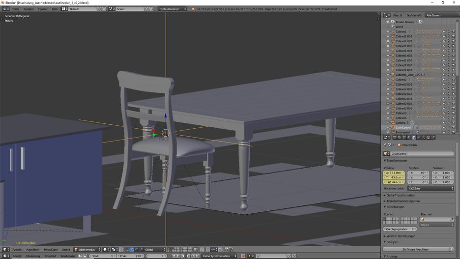 Küchentisch mit Stuhl