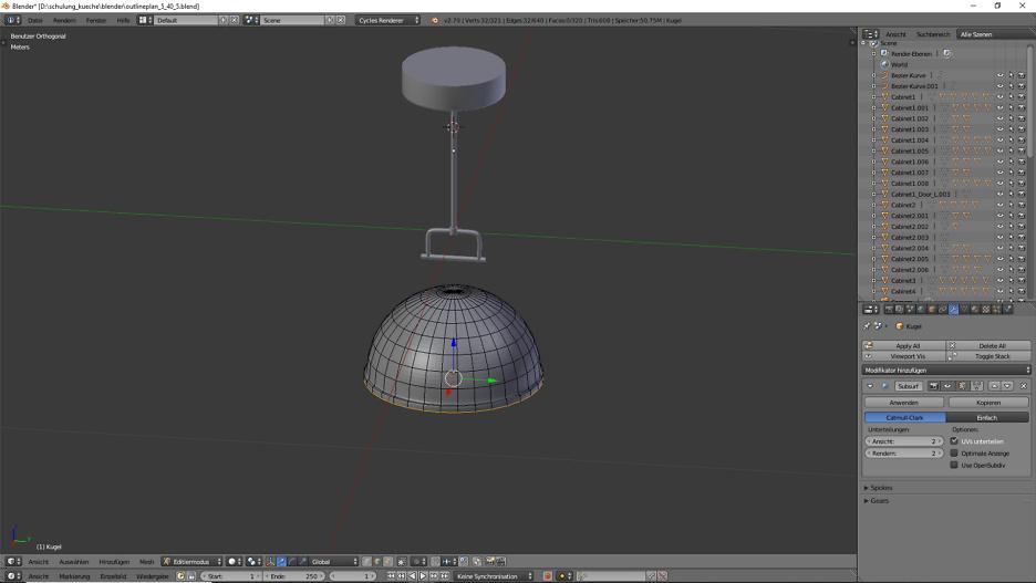 3D-Visualisierung: Küche Part 6 3