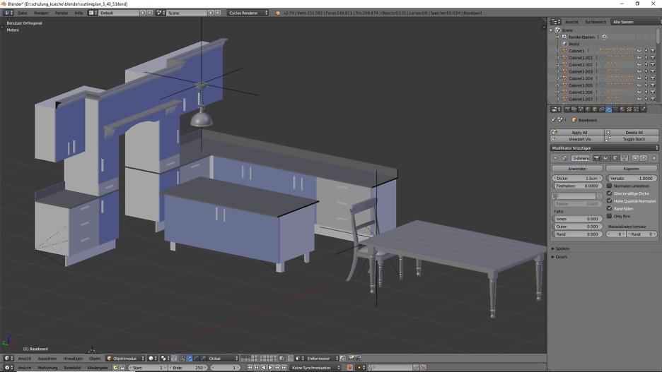 3D-Visualisierung: Küche Part 6 8