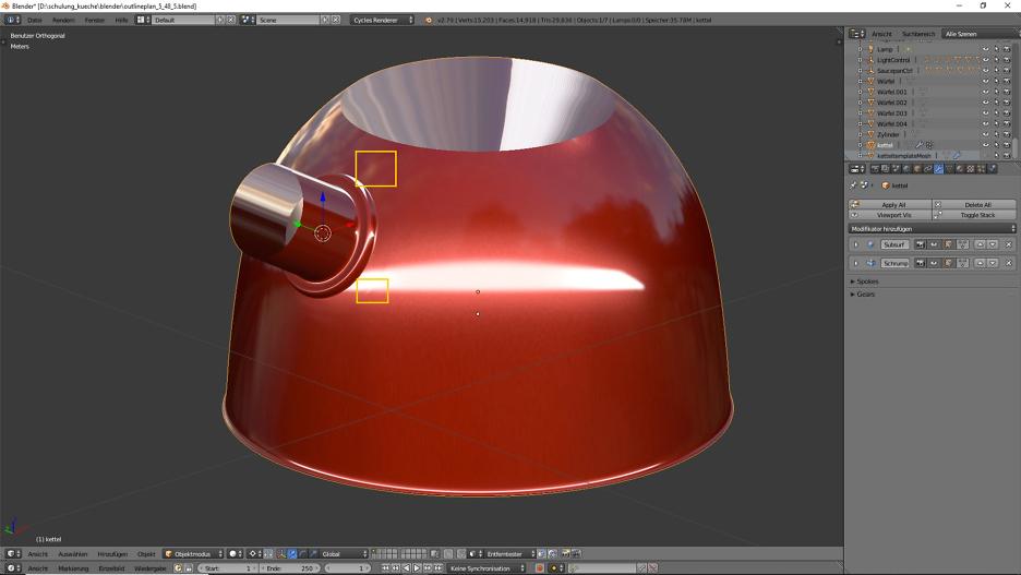 3D-Visualisierung: Küche Part 7 3