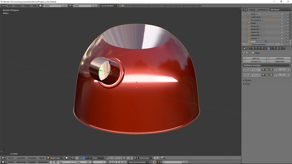 3D-Visualisierung: Küche Part 7 4