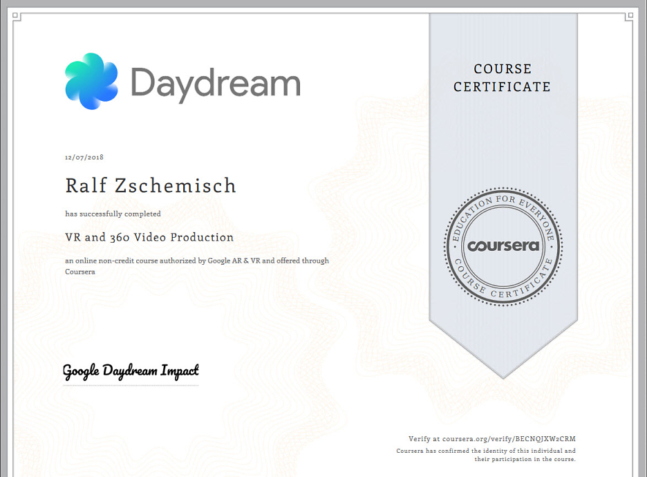 You completed VR and 360 Video Production! 2