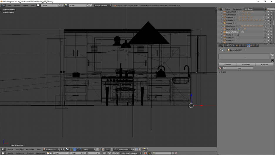 3D-Visualisierung: Küche Part 11 1