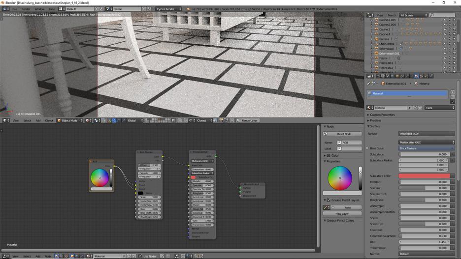 3D-Visualisierung: Küche Part 11 2