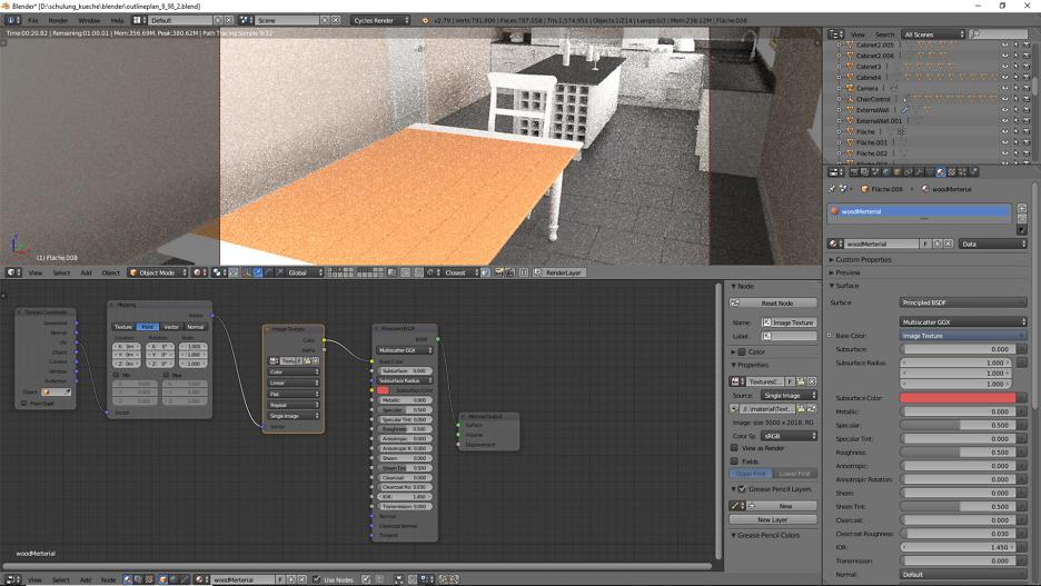 3D-Visualisierung: Küche Part 11 3