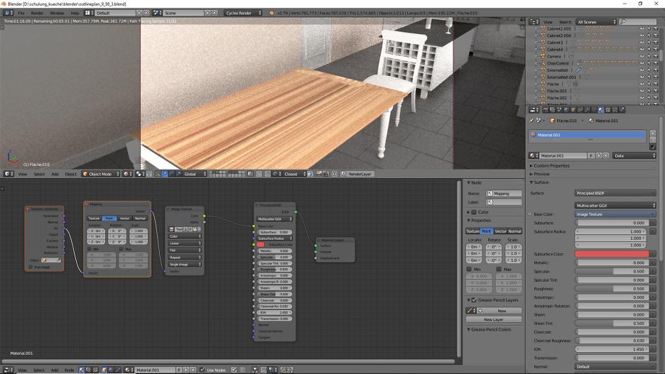 3D-Visualisierung: Küche Part 11 4