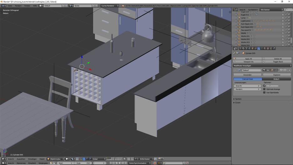 3D-Visualisierung: Küche Part 9 3