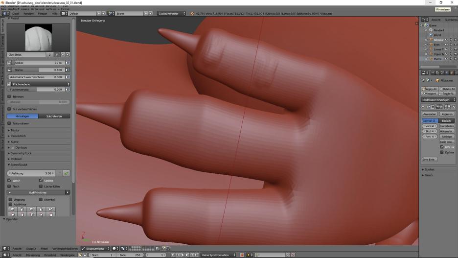 Sculpting in Blender 2.79 2