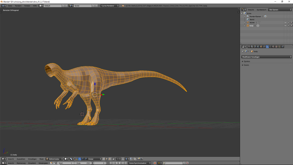 Base Mesh  Allosaurus