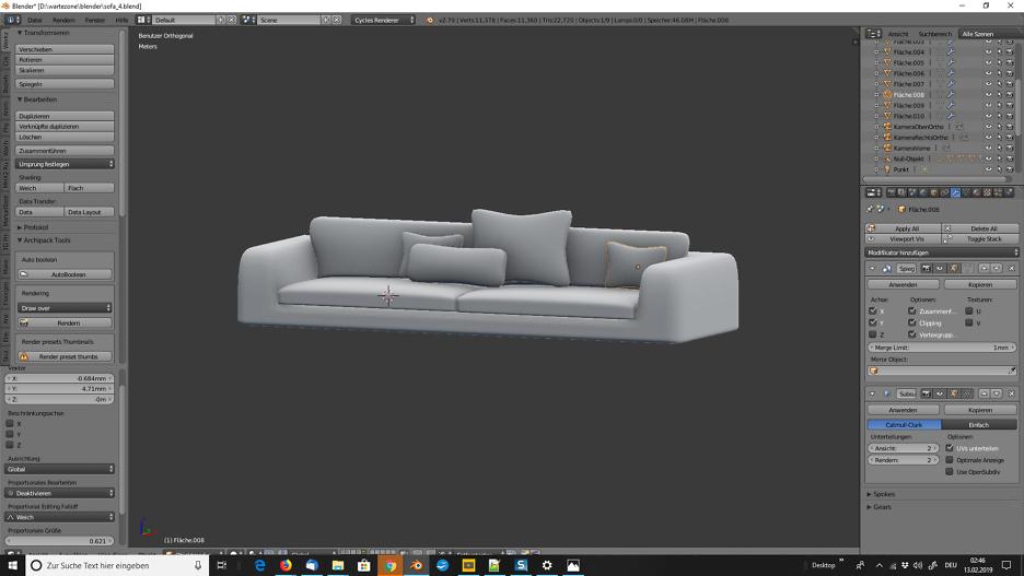 Sofa für Wartezimmer