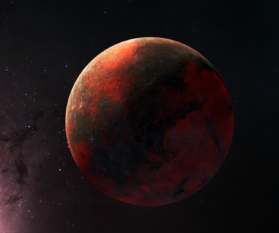 Space Elements: Roter Planet Animation