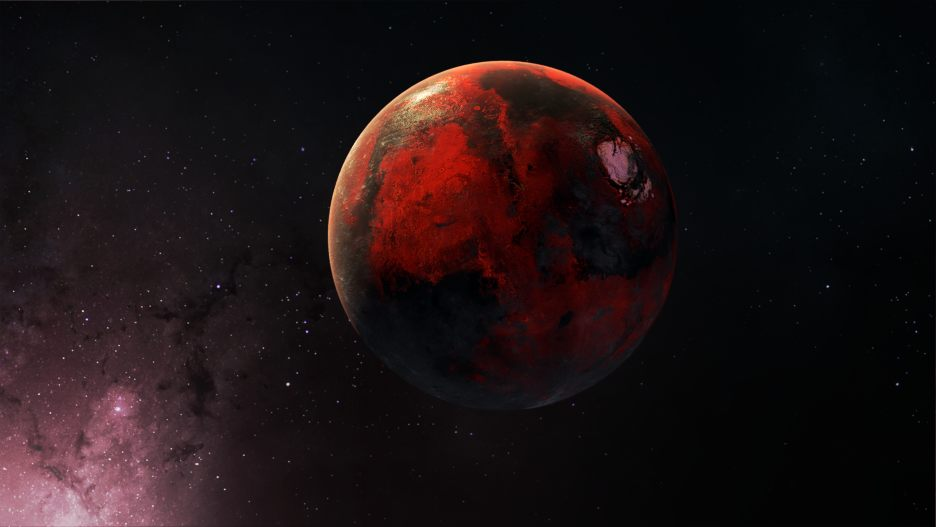 Space Elements: Roter Planet Animation 4