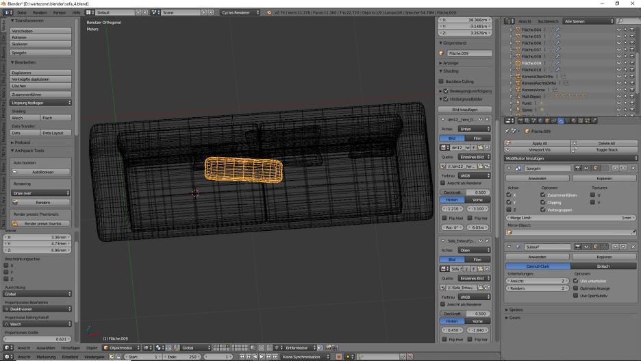 3D-Visualisierung: Sofa für Wartezimmer