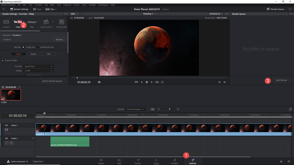 Space Elements: Roter Planet Animation 3