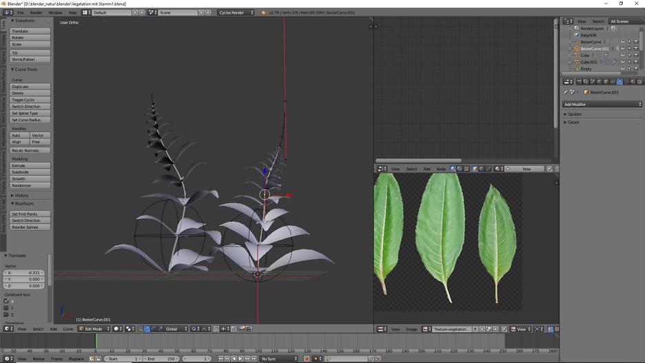 Pflanze mit Stamm