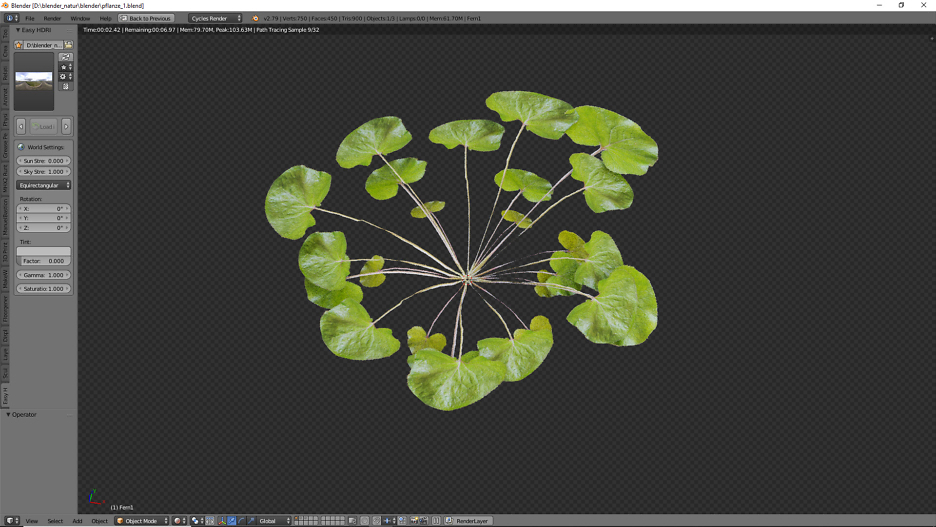 Ansicht der 3D Pflanze