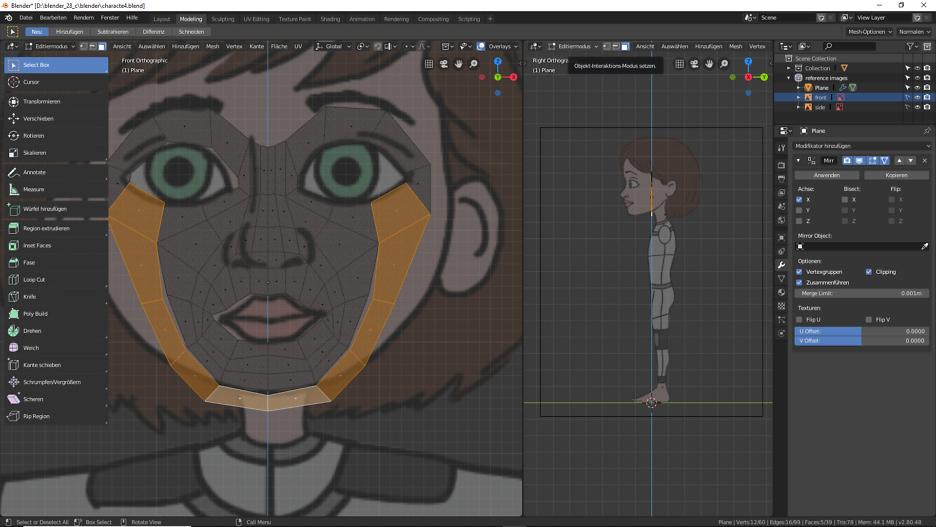 3D-Modelling mit Blender 2.80
