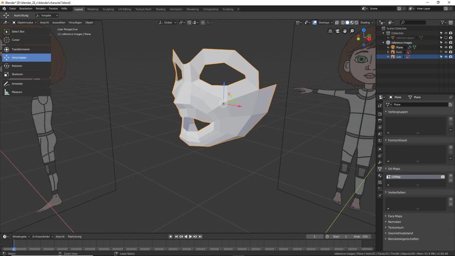 Vervollständigen der Loop Mask