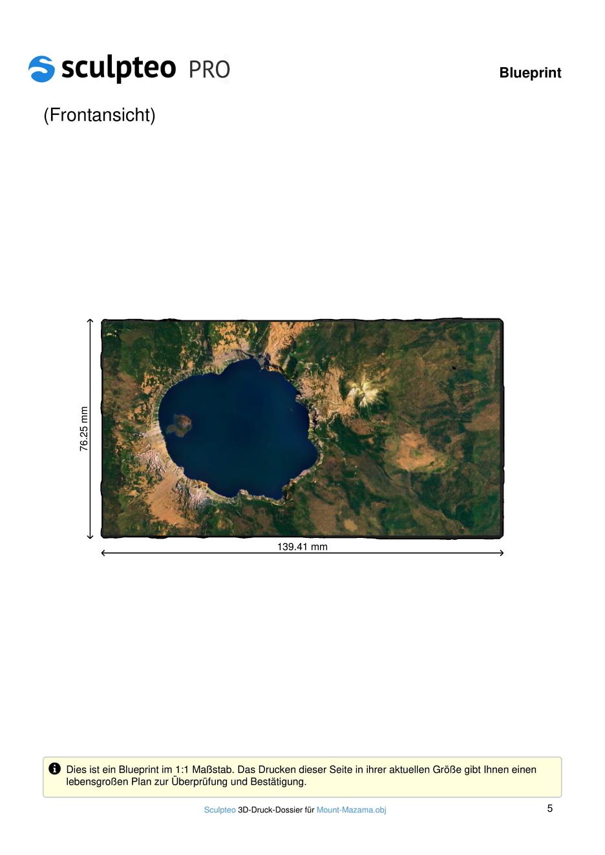 3D-Druck-Dossier Vulkan Mount Mazama