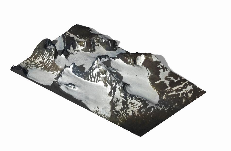 Multicolor 3D-Druck: Galdhøpiggen – 3D Geländekarte 1