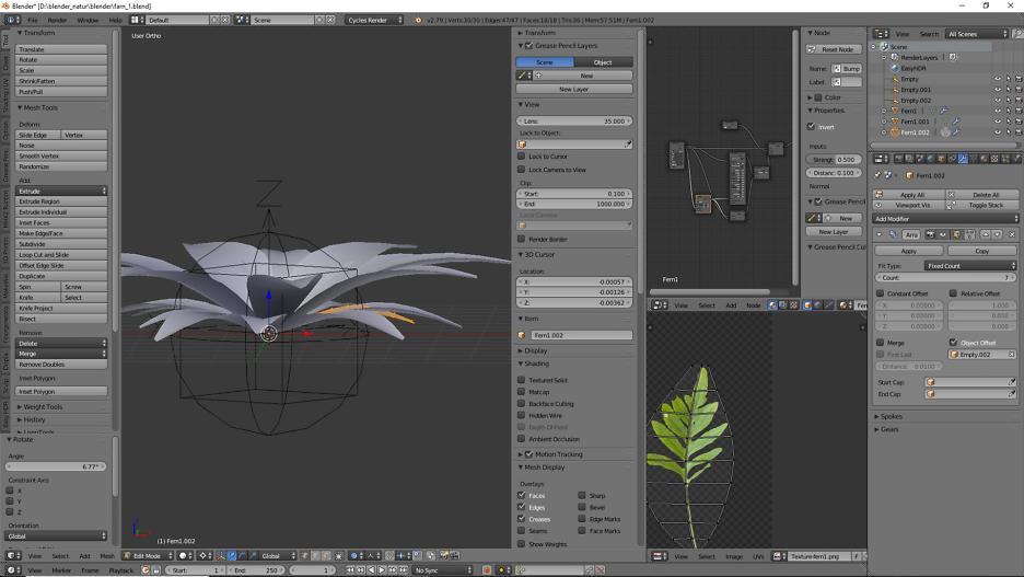 Gestaltung einer Pflanze