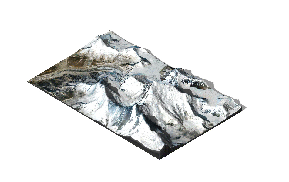Multicolor 3D-Druck: Mount Everest - 3D Geländekarte 2