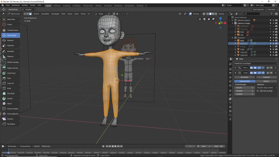 Blender: 3D Modellierung der Füße 3