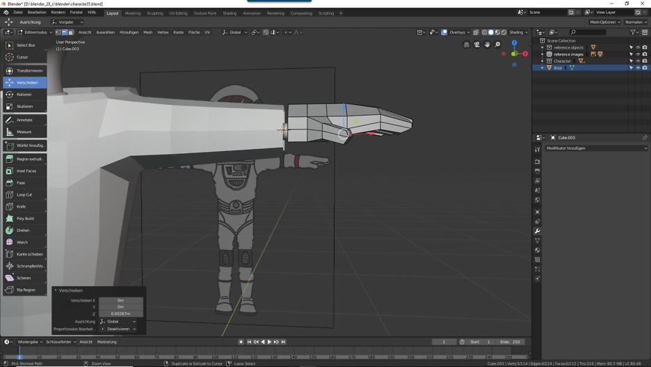 Blender: Handschuhe für die Astronautin