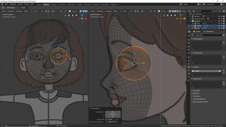 Modellierung der Augen